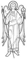 St. Michael-pencil sketch