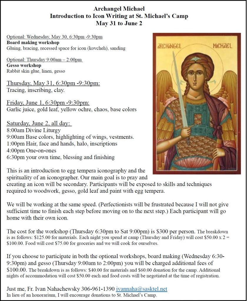 CANCELLED: Archangel Michael Introduction to Icon Writing at St