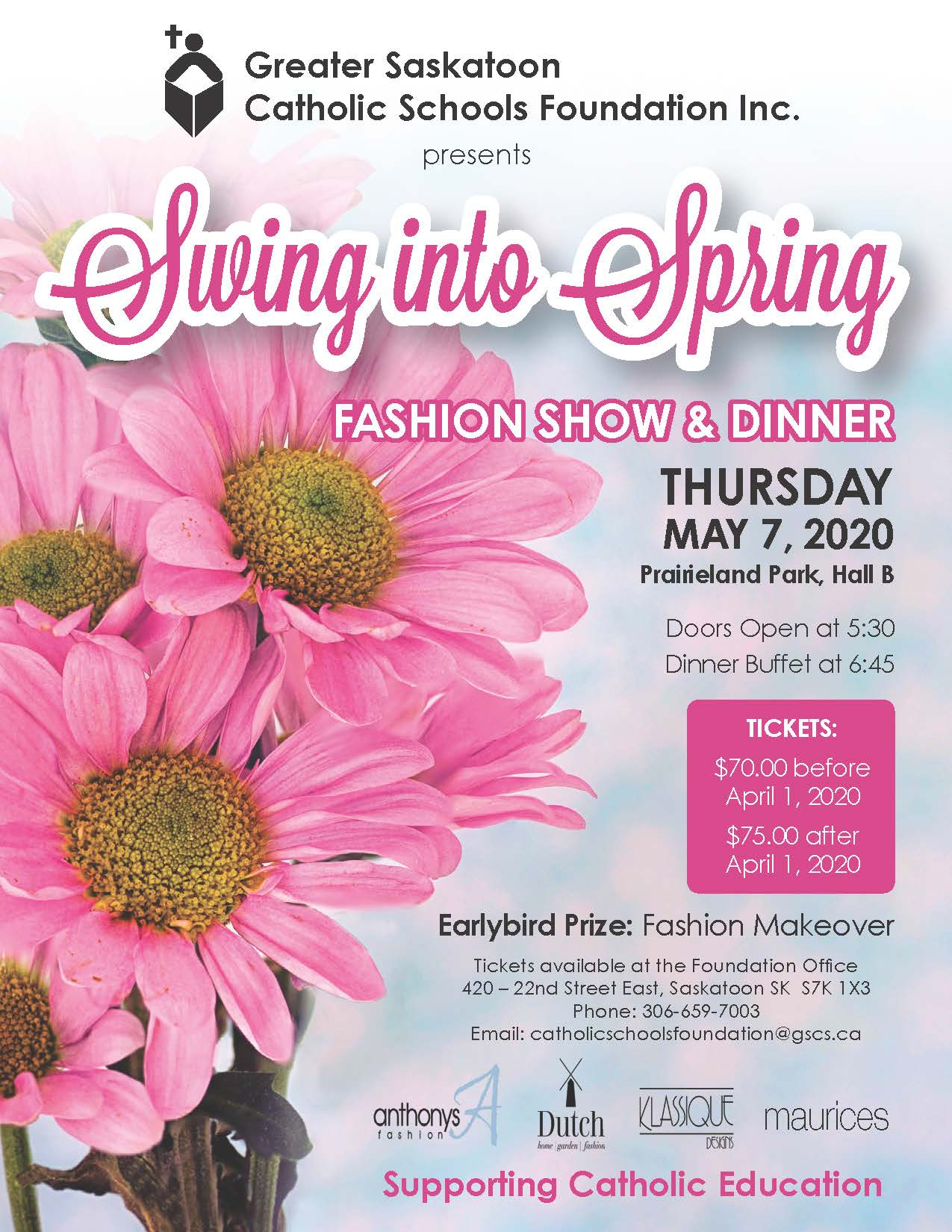 Notice Gscs Foundation Inc Presents Swing Into Spring Fashion Show And Dinner May 7 2020 Cancelled Skeparchy Org
